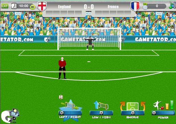 free kick games 2012